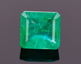 SALE! Beautiful Rich Green Emerald Gemstone from Colombia, 2.29 cts., 7.1x6.7 mm., Emerald Shape