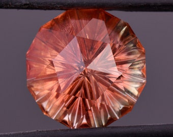 SALE! Gorgeous Red Shiller Sunstone Gem from Oregon, 11.11 cts., 15 mm., Fantasy Carved Rose Cut