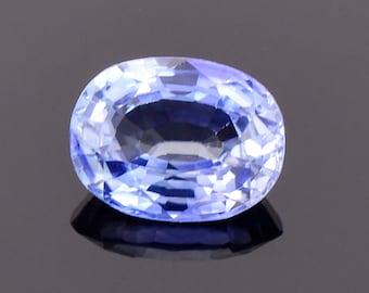 Lovely Bright Blue Sapphire Gemstone from Sri Lanka, 1.50 cts., 7.8x6.0 mm., Oval Shape