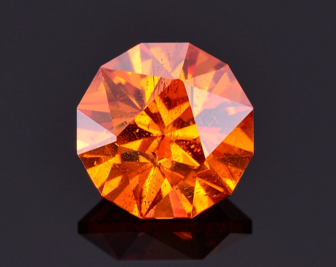 SALE! Gorgeous Fiery Orange Sphalerite Gemstone from Spain, 4.58 cts., 9.6 mm., Custom Round Shape