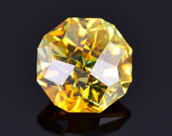 Excellent Yellow Sphalerite Gemstone from Spain, 4.65 cts., 9.1 mm., Custom Round Brilliant Cut