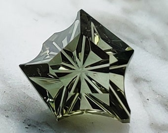 Amazing Green Petite Fantasy Tourmaline Gemstone from Nigeria, 2.85 cts., 9.5x8.5 mm., Fantasy Shield Shape