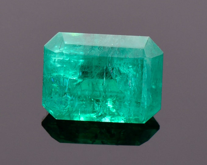 SALE! Excellent Rich Green Emerald Gemstone from Colombia, 2.13 cts., 9.2 x 6.7 mm., Emerald Shape