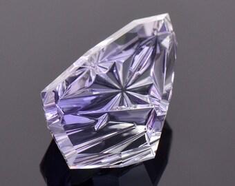 Exquisite Fancy Tanzanite Gemstone from Tanzania, 13.88 cts., 21x13 mm., Fantasy Cut Shield