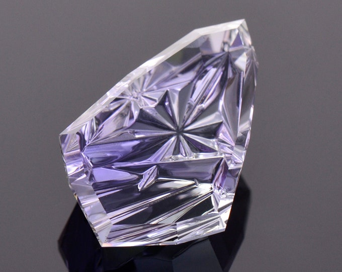Featured listing image: Exquisite Fancy Tanzanite Gemstone from Tanzania, 13.88 cts., 21x13 mm., Fantasy Cut Shield