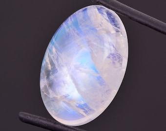 Gorgeous Rainbow Moonstone Gem from Madagascar, 27.69 cts., 26x17 mm., Oval Shape Cabochon