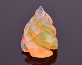 SALE! Lovely Hand Carved Orange Opal from Ethiopia 4.23 cts