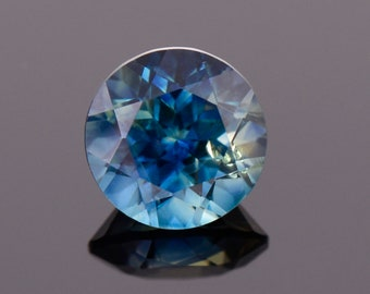 SALE! Excellent Blue Sapphire Gemstone from Australia, 0.63 cts., 5 mm., Round Brilliant Cut
