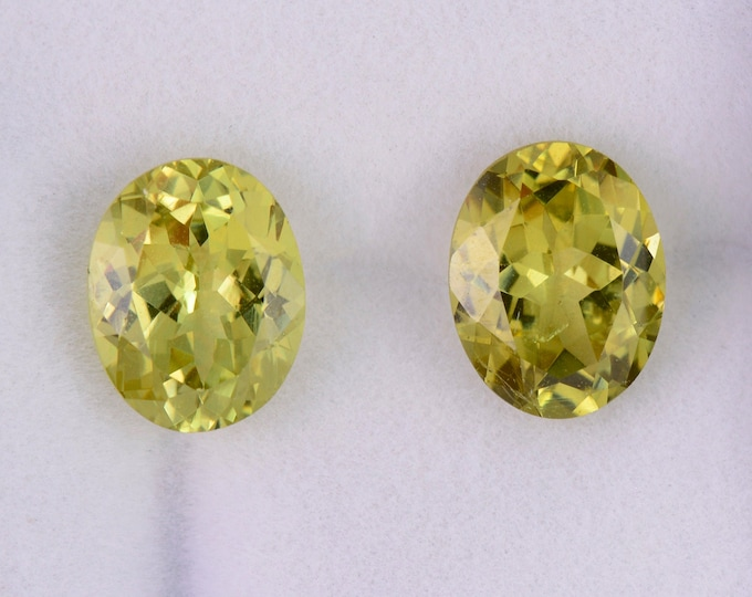 Stunning Yellow Grandite Garnet Match Gemstone Pair, 4.46 tcw., 9x7 mm., Ovals Shape