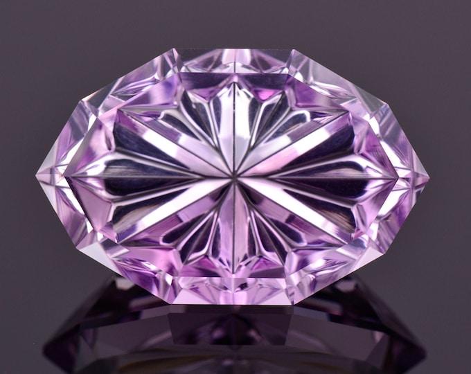 Stunning Fantasy Cut Amethyst Gemstone from Brazil, 17.27 cts., 24x15 mm., Radial Hard Marquise Shape