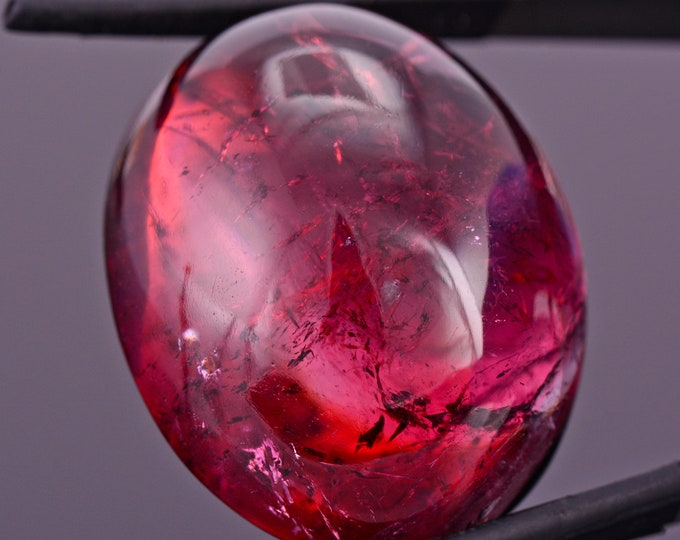 Amazing Large Rubellite Tourmaline from Maine, 104 cts., 33x26 mm., Oval Cabochon
