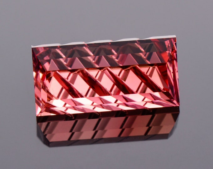 SALE! Gorgeous Pink Tourmaline Gemstone from Nigeria, 6.76 cts., 14 x 7 mm., Fantasy Cut Bar Shape