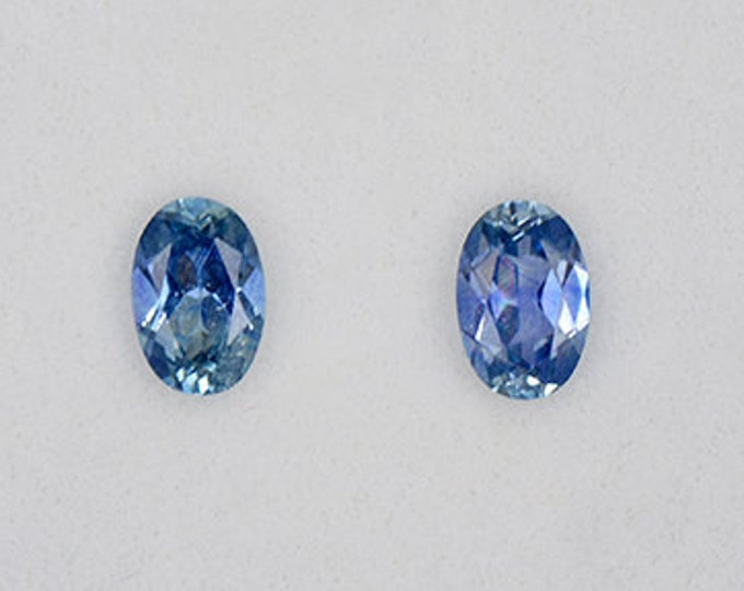 Gorgeous Blue Sapphire Gemstone Match Set from Montana 1.06 tcw.