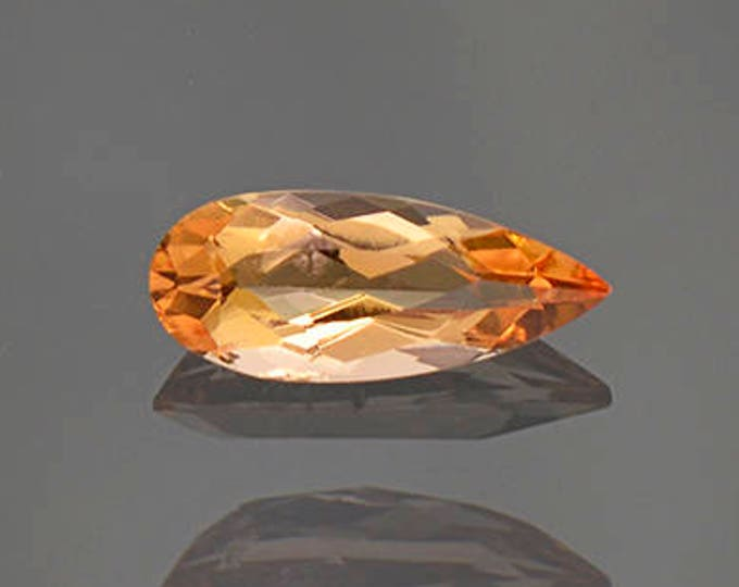 Fantastic Bright Orange Imperial Topaz Gemstone from Brazil 0.96 cts.
