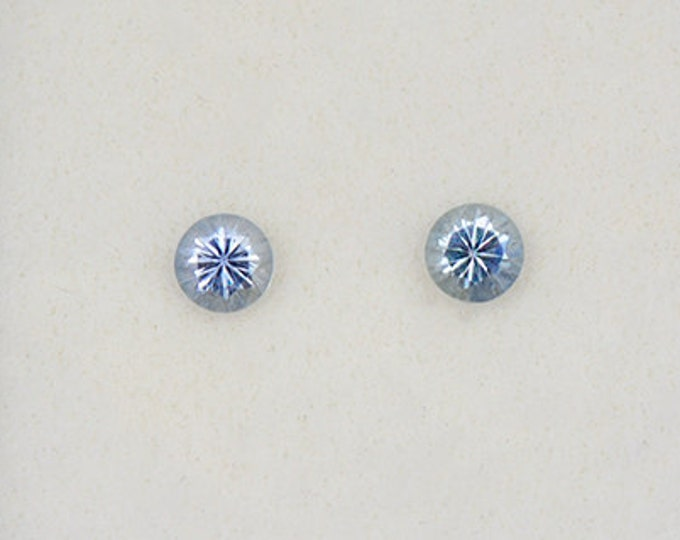 Fantastic Denim Blue Sapphire Gemstone Match Pair from Montana 0.48 tcw.
