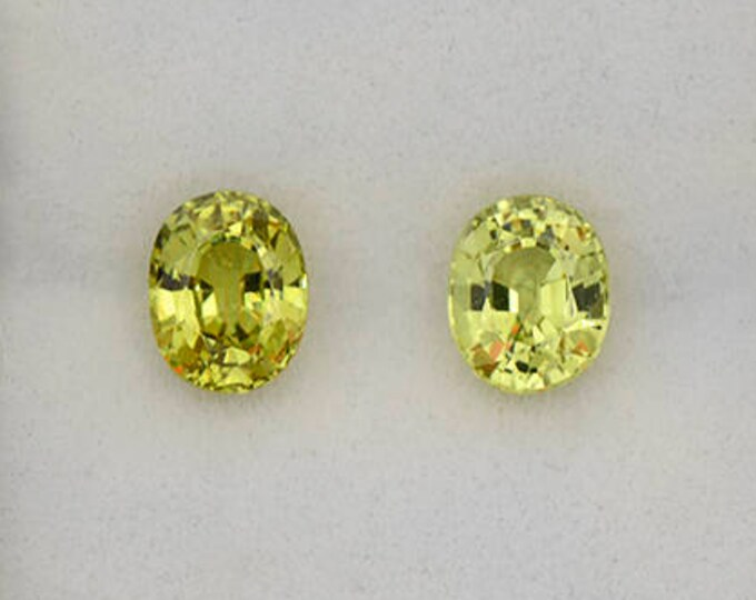 Excellent Yellow Green Chrysoberyl Match Pair from Sri Lanka 2.40 cts.
