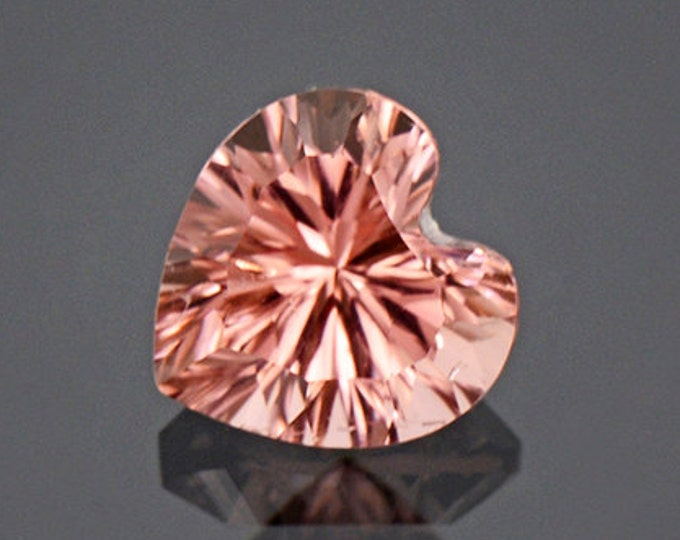 Fantastic Peachy Pink Heart Tourmaline Gem from Afghanistan 2.04 cts
