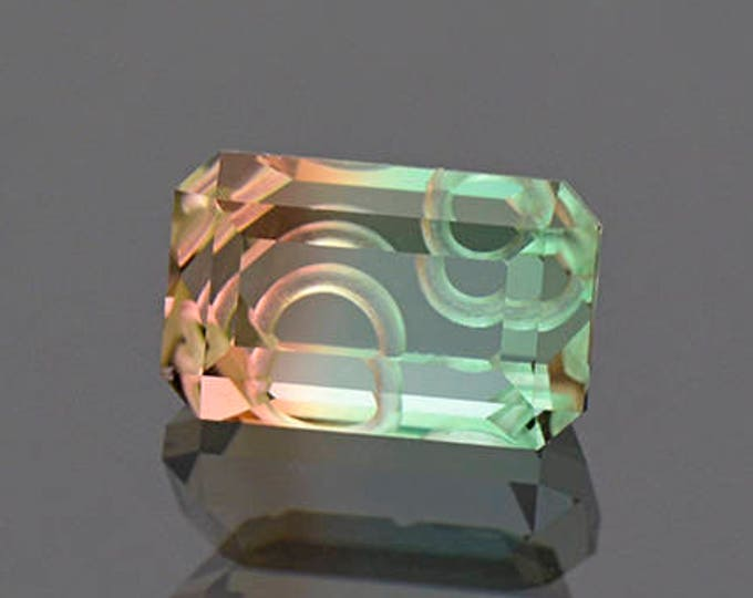 Spectacular Tri Color Tourmaline Gemstone from Mozambique 3.56 cts.