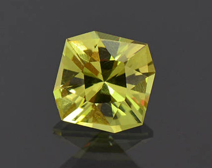 Precision Cut Green Yellow Apatite Gemstone from Tanzania 2.97 cts.