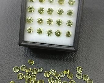 SALE! Excellent Yellow Grandite Garnet Gemstone 4 mm Round Brilliant Cut