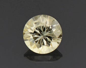 Brilliant Light Yellow Round Sapphire Gemstone from Montana 0.59 cts.