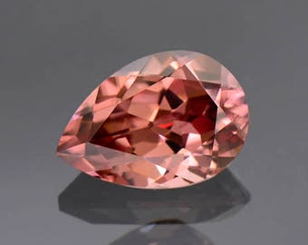 SALE! Excellent Pink Champagne Zircon Gemstone from Tanzania 2.15 cts.