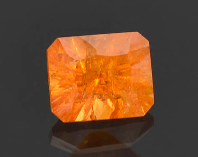 Bright Orange Concave Cut Spessartine Garnet Gemstone 3.59 cts.