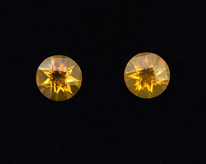 Bright Orange Fire Opal Gemstone Match Pair from Mexico 1.04 tcw.