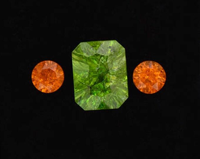 Fascinating Grossular and Spessartine Garnet Gemstone Set 4.24 tcw.