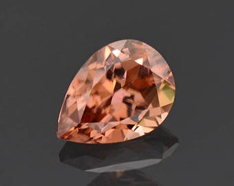 SALE! Lovely Peach Champagne Zircon Gemstone from Tanzania 2.14 cts.