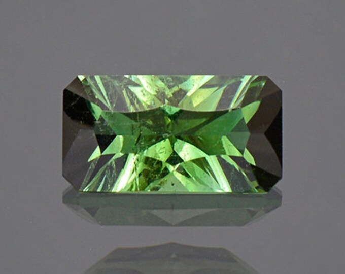 Concave Cut Green Tourmaline Gemstone from Brazil 1.25 cts.