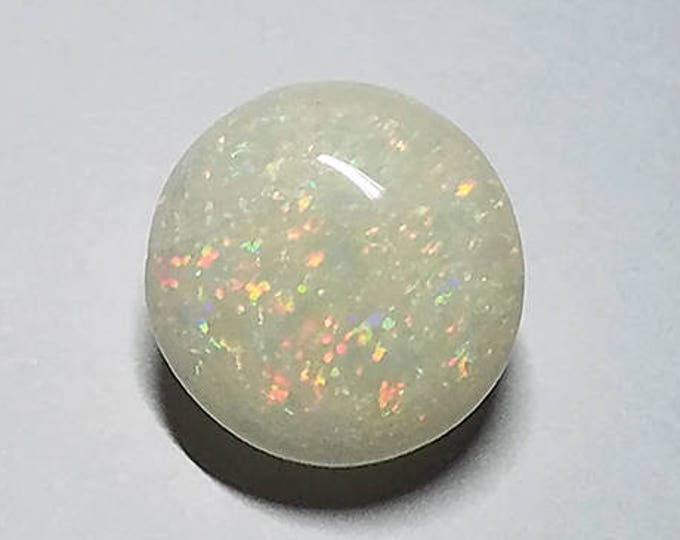 Fantastic Solid White Opal Gem Cabochon from Coober Pedy, Australia 7.51 cts.