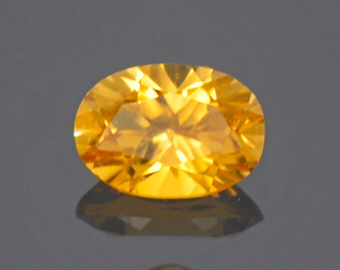 Bright Yellow Sunset Tourmaline Gemstone from Tanzania 0.63 cts.