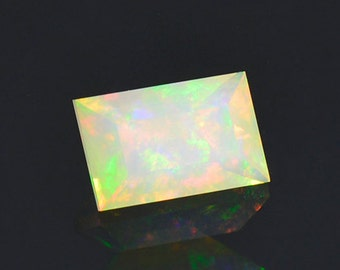 SALE! Lovely Multi Color Opal Gemstone from Ethiopia 1.11 cts.