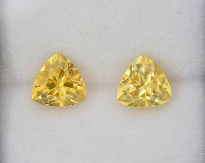Fantastic Yellow Scheelite Gemstone Match Pair from China 6.65 tcw.