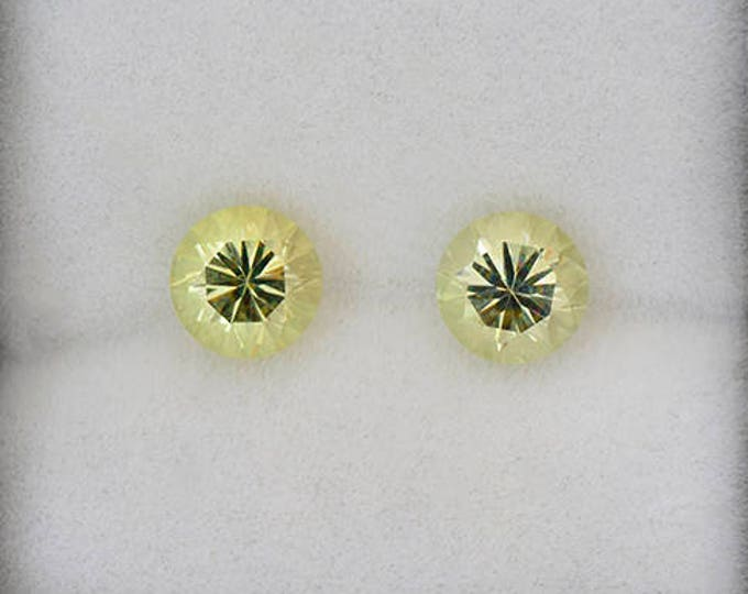 Excellent Light Yellow Green Chrysoberyl Gemstone Match Pair 2.26 tcw.