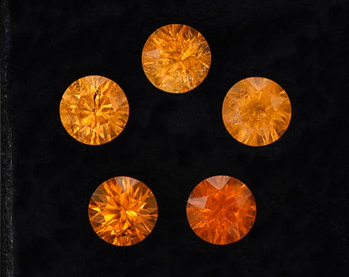 Gorgeous Orange Concave Spessartine Garnet Gemstone Set from Nigeria 6.24 tcw.