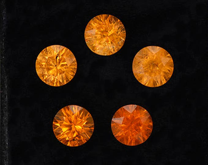 SALE! Gorgeous Orange Concave Spessartine Garnet Gemstone Set from Nigeria 6.24 tcw.