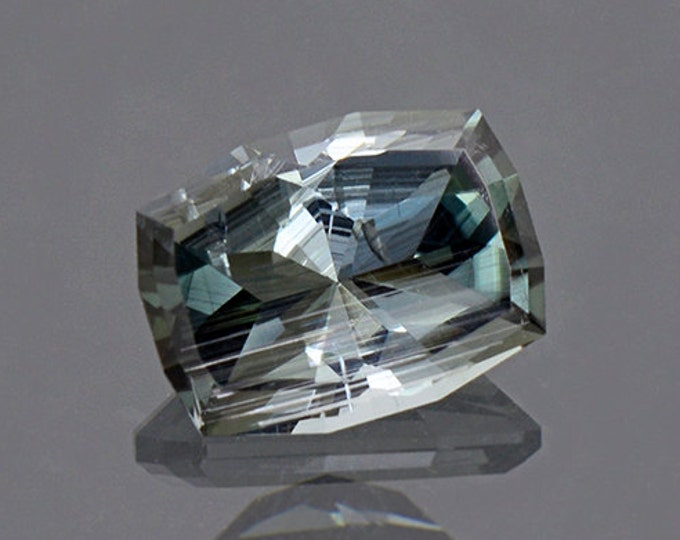 Interesting Silvery Blue Green Tourmaline Gemstone from Brazil 1.75 cts.