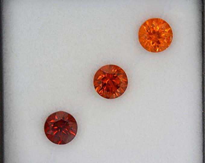 Stunning Spessartine Garnet Graded Orange Set of Gemstones 2.48 tcw.