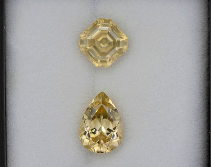 Scintillating Bright Yellow Zircon Gemstone Set from Tanzania 4.65 tcw.