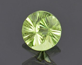 SALE! Yin Yang Cut Mint Green Peridot Gemstone from Pakistan 2.68 cts.