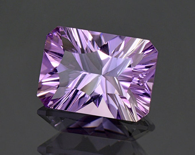 Brilliant Concave Bright Purple Amethyst Gemstone from Bolivia 5.04 cts.