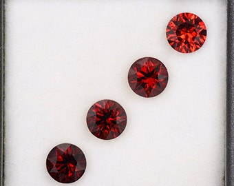 Beautiful Crimson Red Rhodolite Garnet Gemstone Set from Tanzania 3.71 tcw.