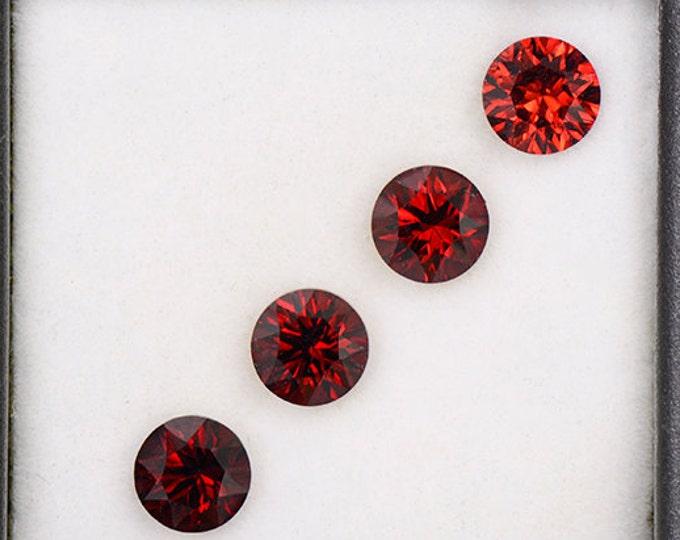 SALE! Beautiful Crimson Red Rhodolite Garnet Gemstone Set from Tanzania 3.71 tcw.