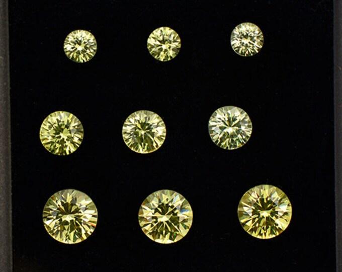 HOLIDAY SALE! Gorgeous Yellow Grandite Garnet Gemstone Set from Mali 3.19 tcw.