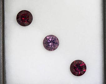Lovely Rhodolite Garnet Gemstone Set from Tanzania 2.14 tcw.