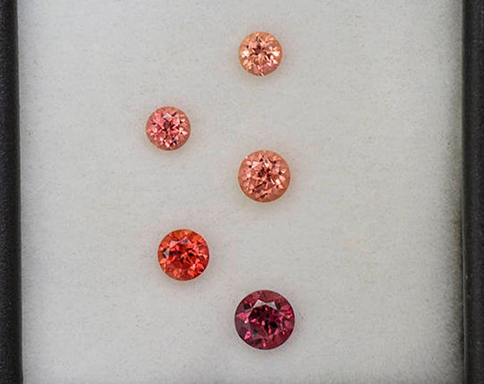 HOLIDAY SALE! Nice Pink and Orange Sapphire Gemstone Set from Tanzania 1.20 tcw.