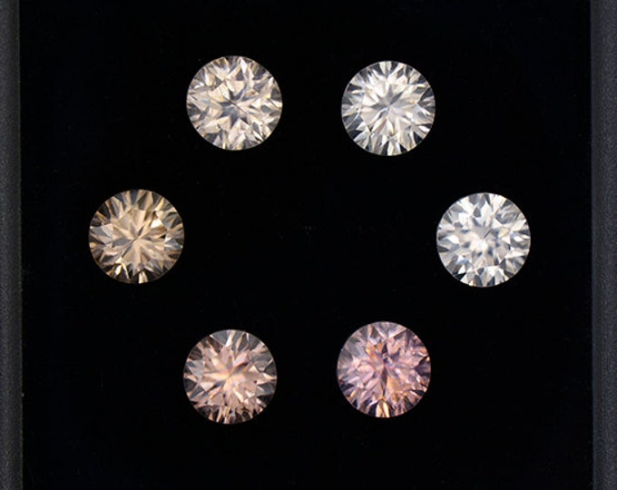 Excellent Silvery Zircon Gemstone Set from Australia 5.25 tcw.