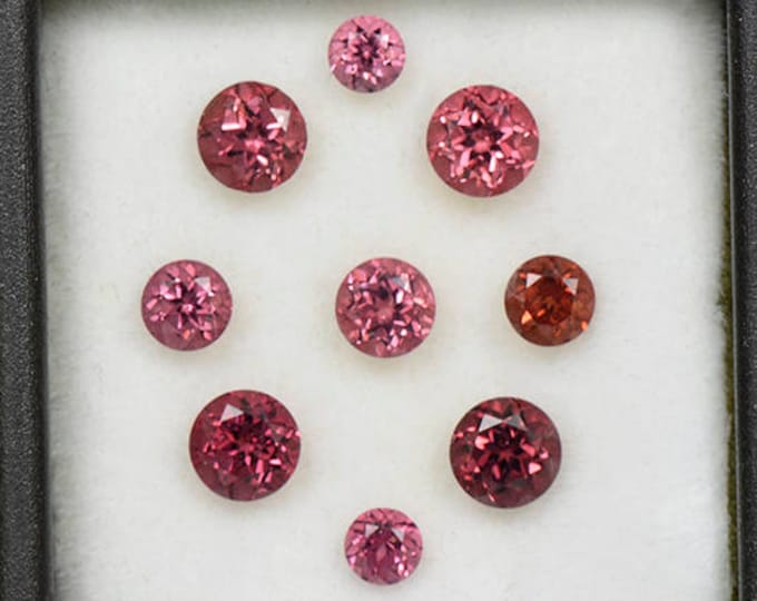 Excellent Rose Pink Spinel Gemstone Set from Tanzania 3.88 tcw.
